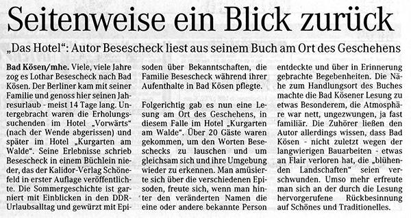 Naumburger Tageblatt, Ostern 2006